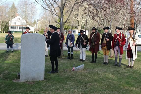 Danvers Alarm List Coy celebrates Patriot's Day