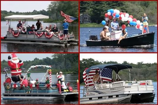 The Chebacco Boat PArade is a great Fourth of July tradition in Essex MA