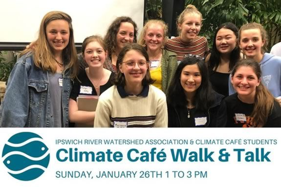 Climate Cafe Walk and Talk at the Ipswich River Watershed Association