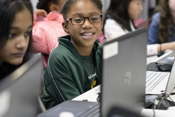 Girls are invited to the Girls Who Code Club at the Public Library in Beverly Massachusetts!
