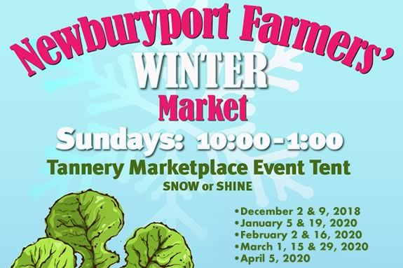 Newburyport's Winter Farmers Market happens under the Tent at the Tannery Market Place rain or shine!